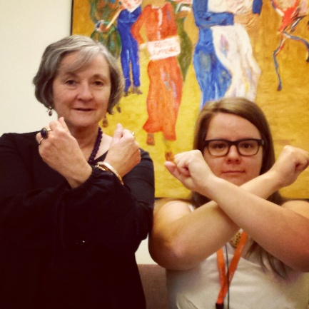 Senator Claire Moore and Susan Hutchinson 'get cross' about sexual violence in armed conflict